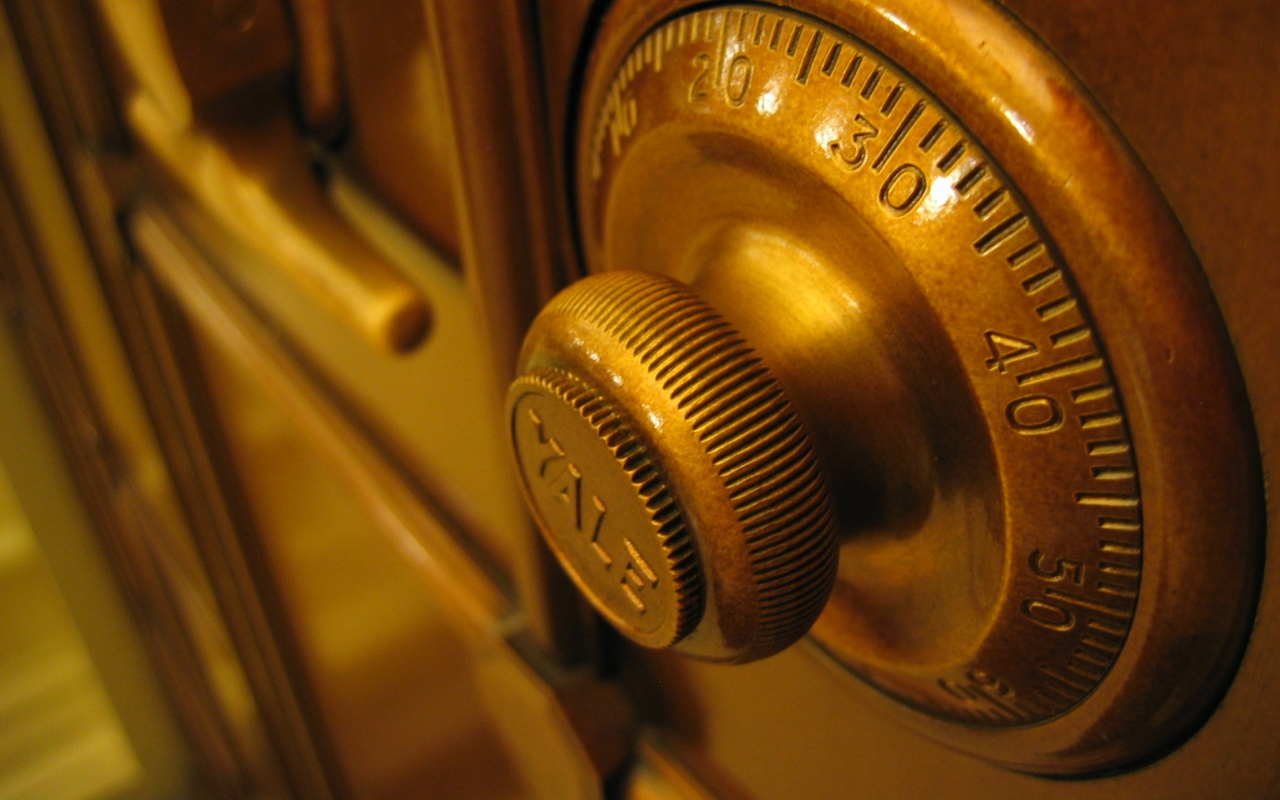 bank safe dial